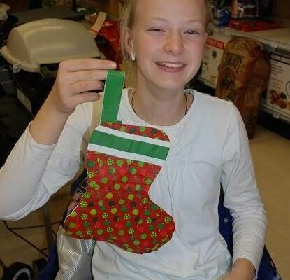 Duct Tape Christmas Stocking