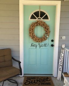 front door weekend painting projects