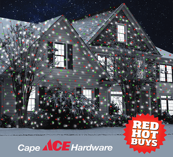 holiday decorations at cape ace lights